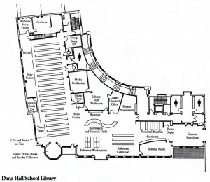 map of the Helen Temple Cooke Library