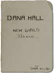 New Girls' Dance Card, 1911