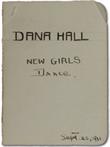 New Girls' Dance Card, 1911