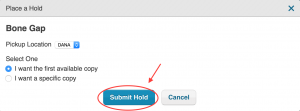 Submit Hold button